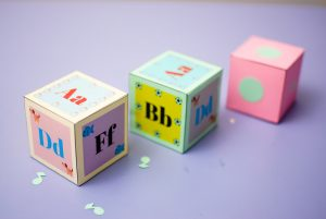 Alphabet baby block printables