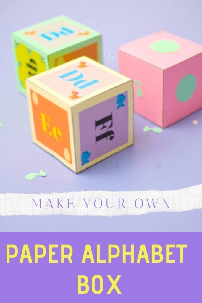 alphabet paper blocks