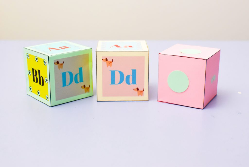 Alphabet Paper Box