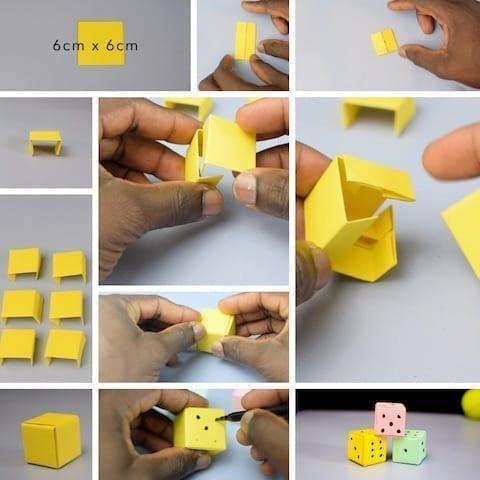 paper dice tutorials