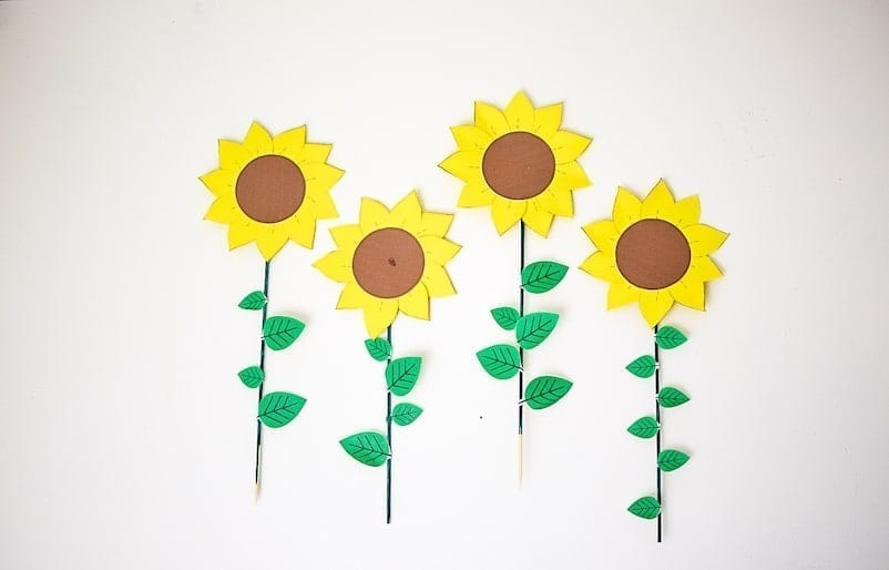 Paper-sunflowers