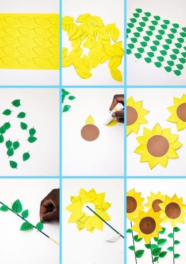 diy paper sunflowers