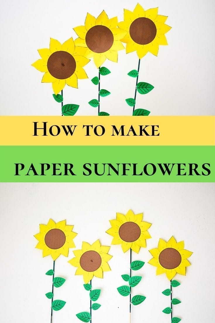 how to make paper sunflowers.-min