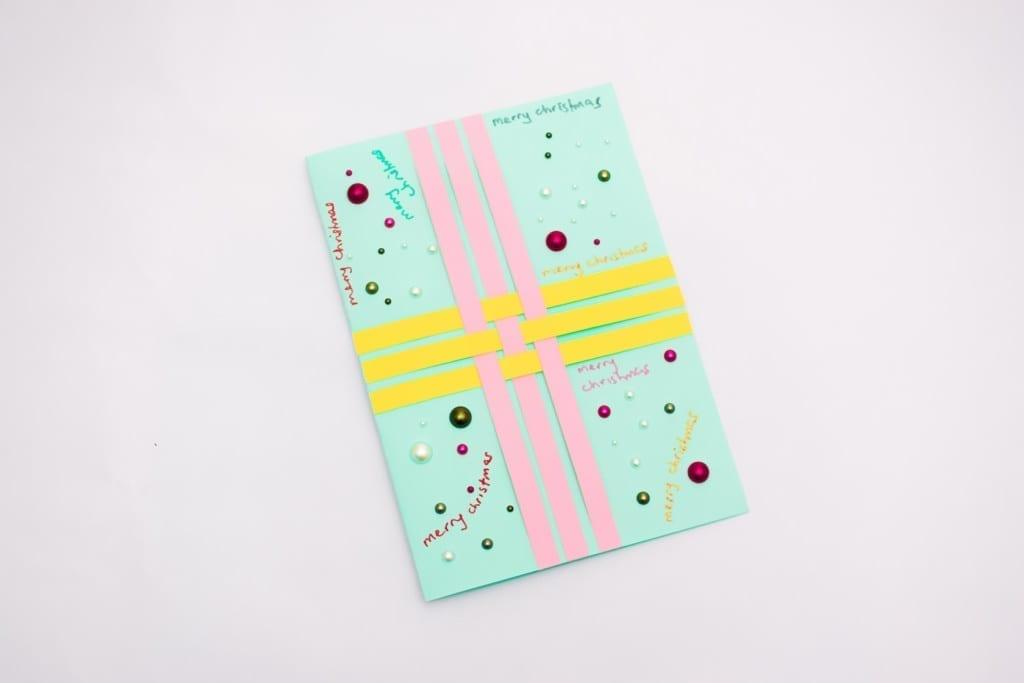 paper weave greetings card