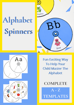 Printable Alphabet spinners