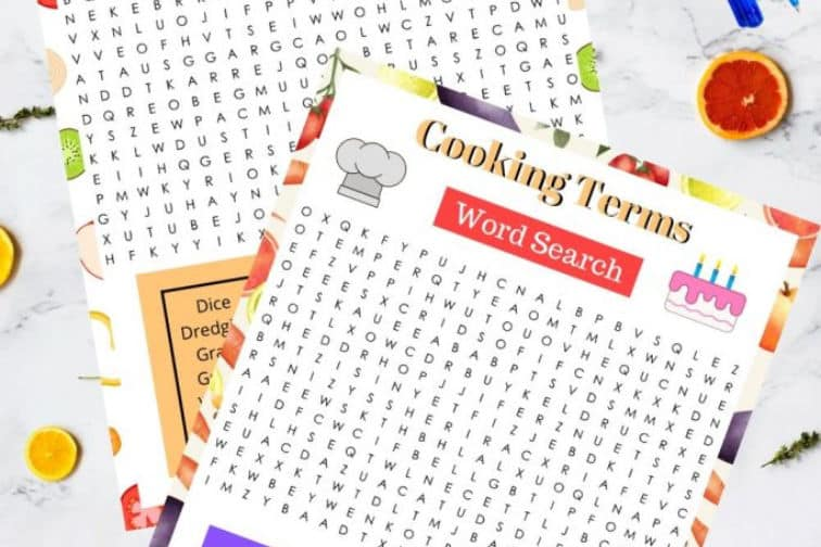 Cooking-terms-word-search