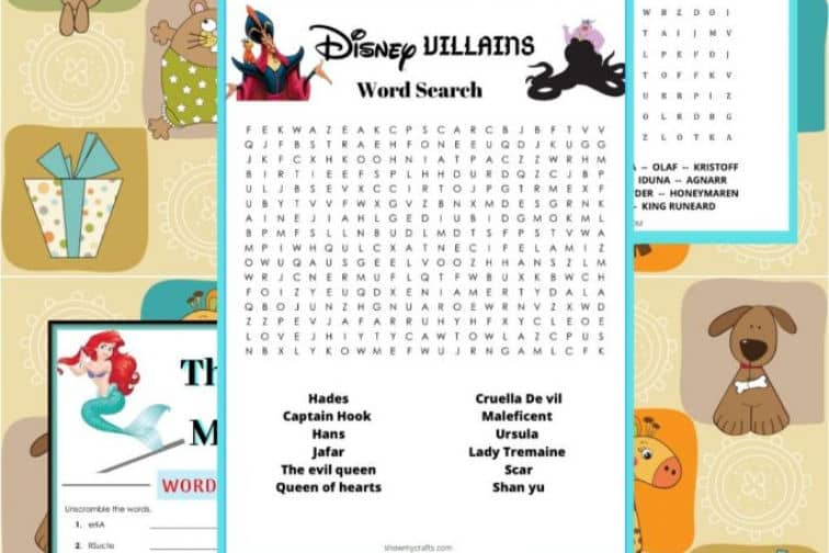 disney word games and puzzles