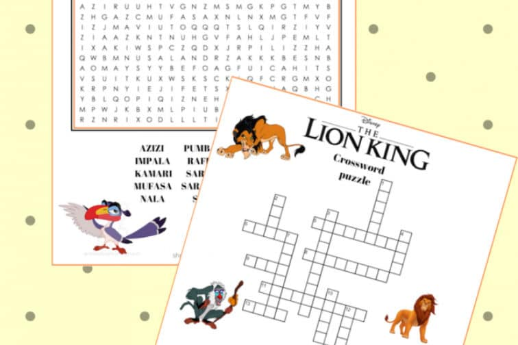 Lion King Word Games