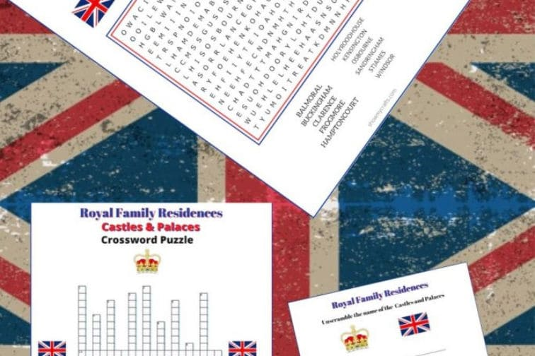 Royal Residences Word Puzzles-