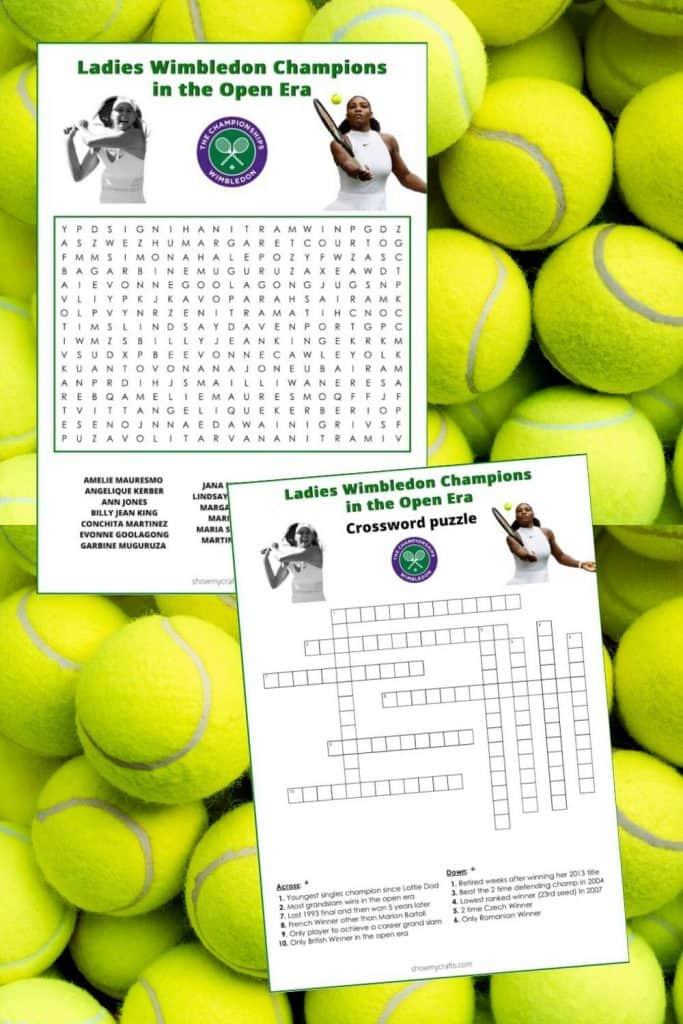 tennis word search printables