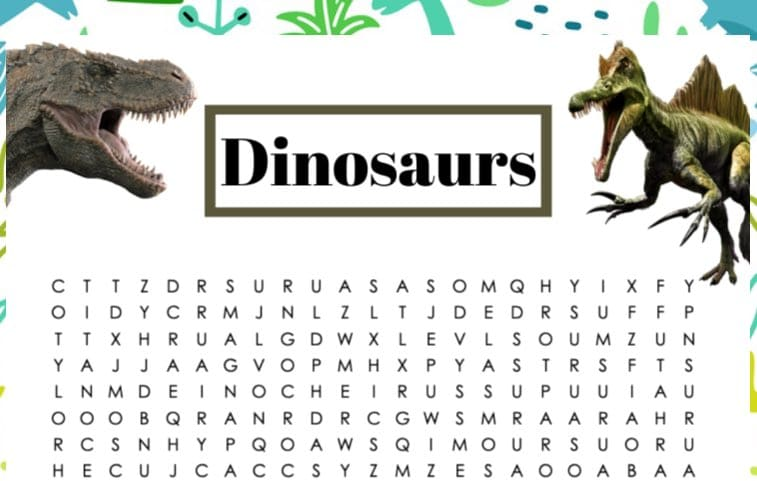 dinosaur word games