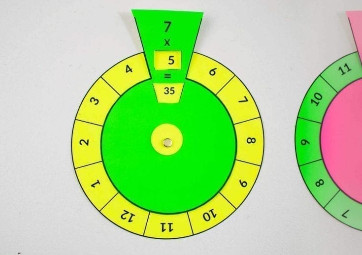 how to make times table spinning wheel